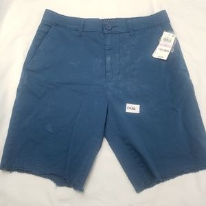 American Rag Shorts - American Rag Men's Blue Stained Shorts TAGS C025